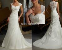 Chic/Modern Vestidos de noiva 2015 New Arrival Fashion Beading Applique White Organza Transparent Back Wedding Dresses