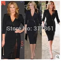 2015 New Fashion Dress Ladies Slim Casual Dresses Plus Size Women's spring Dress