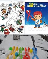 3pcs/lot Plastic Kids Toy Lightweight Compact Snowball Fight Battle Scoop Clip Winter Snow Ball Maker Sand Mold Tool PA673720