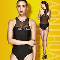 2015 new fashion lady swimsuit triangle bikini swimwear solid piece swimsuit free shipping