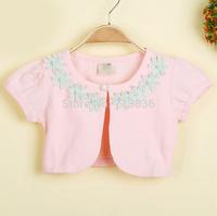 Girls new summer short sleeve vest wholesale children pearls clothing  AA406CN-32FC