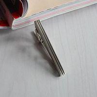 Hot Mens Alloy Metal Fashion Silver Color Simple Necktie Tie Pin Bar Clasp Clip