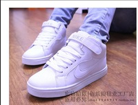 Selling high help skateboard hip-hop han edition white couples leisure sports shoes 36---44