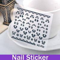 fashion style Cartoon Element Nail Foil Sticker Girls dress best nail stickers nail design stickers