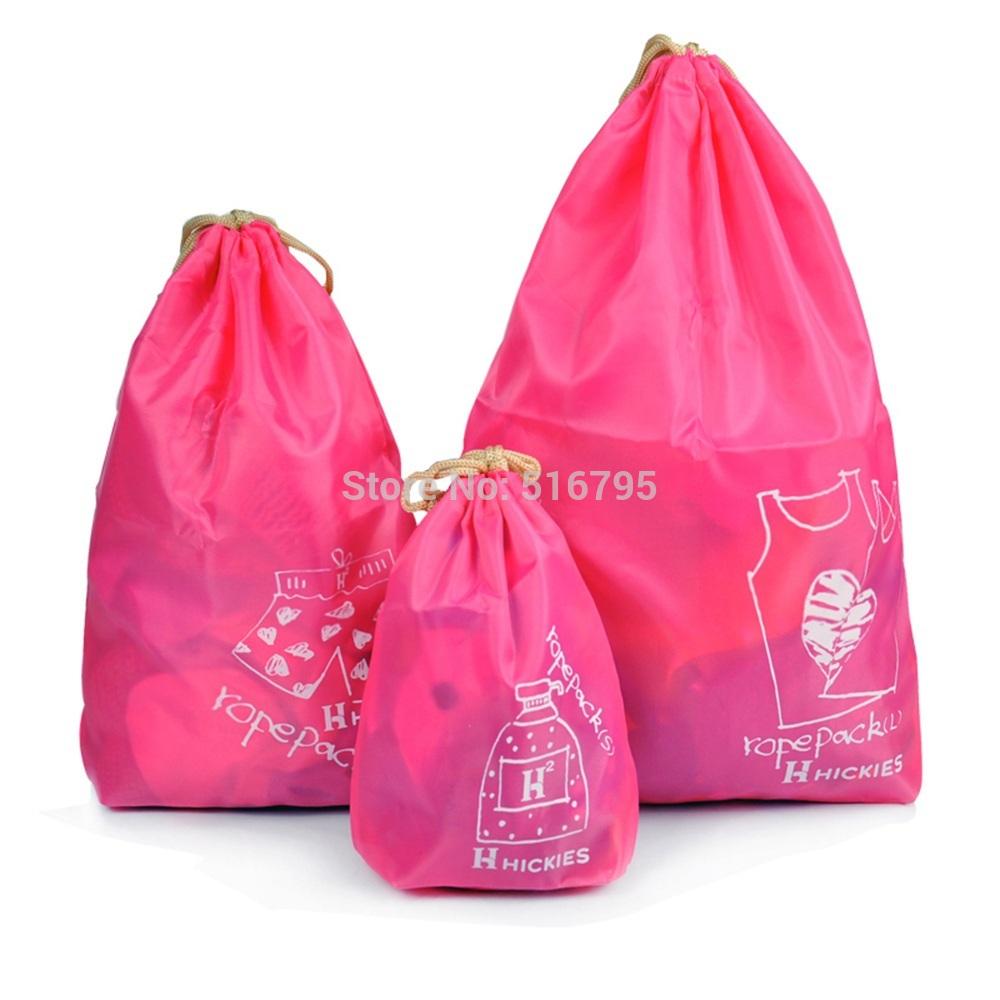 Waterproof Travel bag set clothing storage bag 3 Different size closet organizer RED SKY BLUE(China (Mainland))