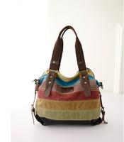 Free2015 fashion woman messenger bags Aibag Retro Canvas Hobo Top Handle Cross Body Bag Tote Handbags w/ Shoulder Strap