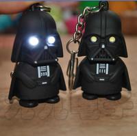 LED Flashlight keychain Darth Vader star war Anakin Skywalker figure keychains