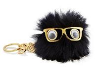 Fox fur car key chain pendant Korean girls models cute little monster keychain bag hangings 12COLORS A001