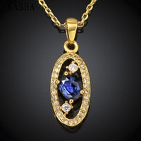 High Quality zircon necklace Fashion Jewelry Free shopping 18K gold plating necklace KASHAN052