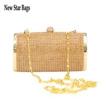 2015 New Design Crystal Evening Clutch Wedding Party Prom Bag Fashion Chain women Bag .S60E