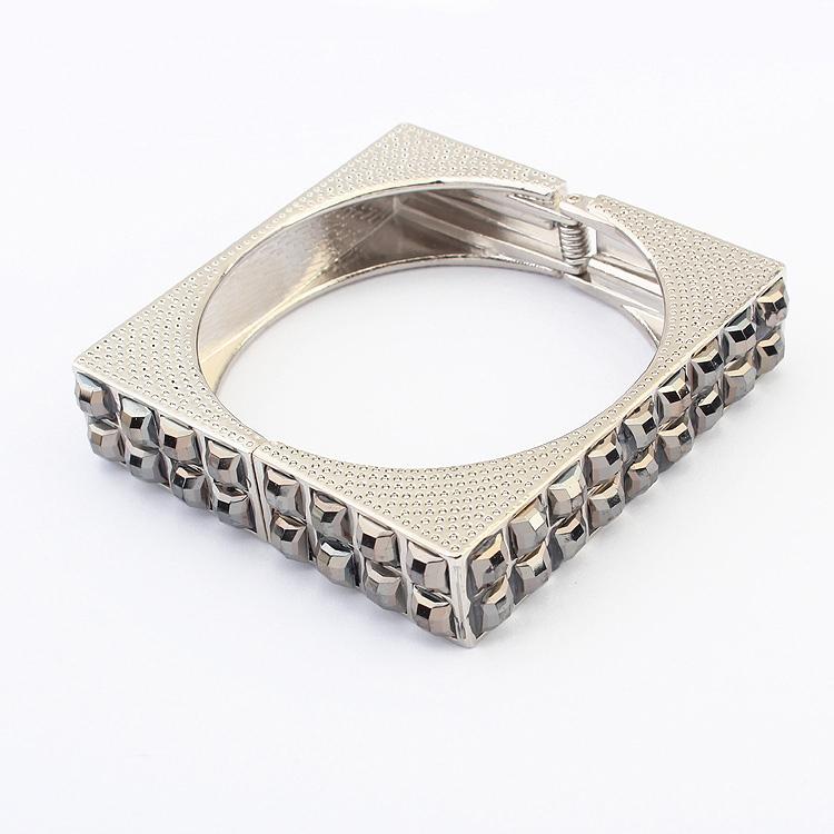 product Model gold bracelet Pop Ms Hot style Ruili magazine article punk square mosaic Bangles 102012B