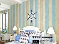 Wood board non-woven wallpaper child real tv american style wallpaper for walls kids room  Mediterranean style