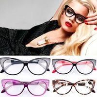 2015 Hot Fashion New Sexy Retro Eyeglasses Frame Fashion Clear Lens Cat Eye Women Eye Glasses