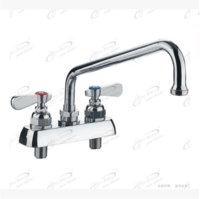 Double double countertop swing faucet commercial hot and cold faucet kitchen rotating  9800-12