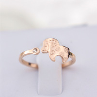 Rose gold ring 18k color gold pinky ring  the opening titanium accessories