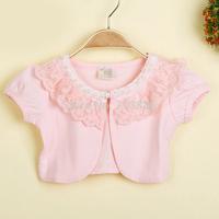 Girls new summer short sleeve vest wholesale children pearls clothing  AA406CN-33FC