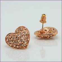 SI Newest Korean Fashion Chic Boutique Wholesale Cute Rhinestone Heart Earrings Stud Earrings for Women