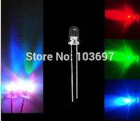 1000pcs 5mm Slow RGB Flash Rainbow Multi Color Red Green Blue LED