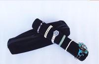 Organizer Mannequin Black Superior Soft Jewelry Display Roll Bags Travel Portable Pouch Bracelete Storage Bag Chain Watch Case