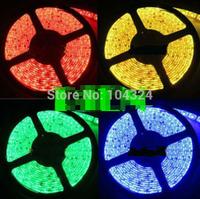 5050 RGB LED Strip Light tiras de feed Waterproof IP65 300 LEDs 5M diode tape garlands home 12V warm white Free Shipping 5m/lot