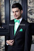 2015 Stylish Black Groom Tuxedos terno noivo Business Wedding Groomsman Suits For Men (Jacket+Pants+Vest+Tie) S202
