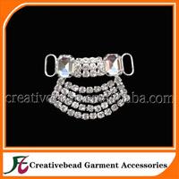 2015 New Design diamante rhinestone bikini connector crystal dangling swimwear accessories