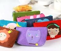 Women felt cartoon cell phone camera bag purse pouch bag Wallets