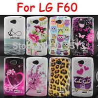 For LG F60 Case Leopard Zebra Owl Flower Pattern Soft TPU Mobile Phone Bags Cases Cover For LG F60 D390 D390N D392