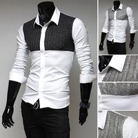 Free shipping men's long-sleeved shirt sportsman of high quality fashion casual shirt long-sleeved shirt size M-XXL-9099