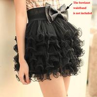 Free Shipping New Girls Full Tutu Tulle Tier 5 Layer Mini Cake Skirt Black Women Fashion   K5BO