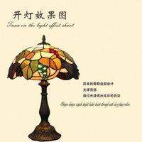 Difanny grape western style retro bar creative bedroom nightstand lamp dimmer lamp garden decoration