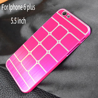 """Grid Aluminum  Metal Brushed cellphone Case Cover Mobile Phone Cases For Apple iphone6 plus Iphone 6 iphone6plus 5.5"""" 5.5 inch"""