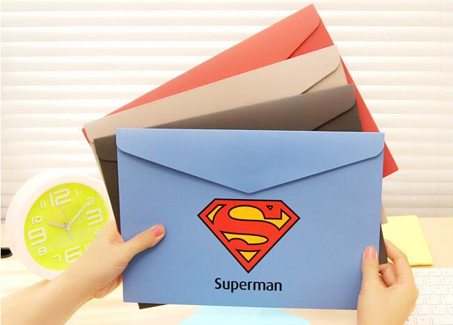 311*222mm/Vintage Creative Super Hero series File bag/DIY Multifunction Green clean up bag/envelope(China (Mainland))