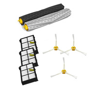 Tangle-Free Debris Extractor Set & 3* HEPA Filter & 3* Side Brushes Replacement For iRobot Roomba 800 series 870 880
