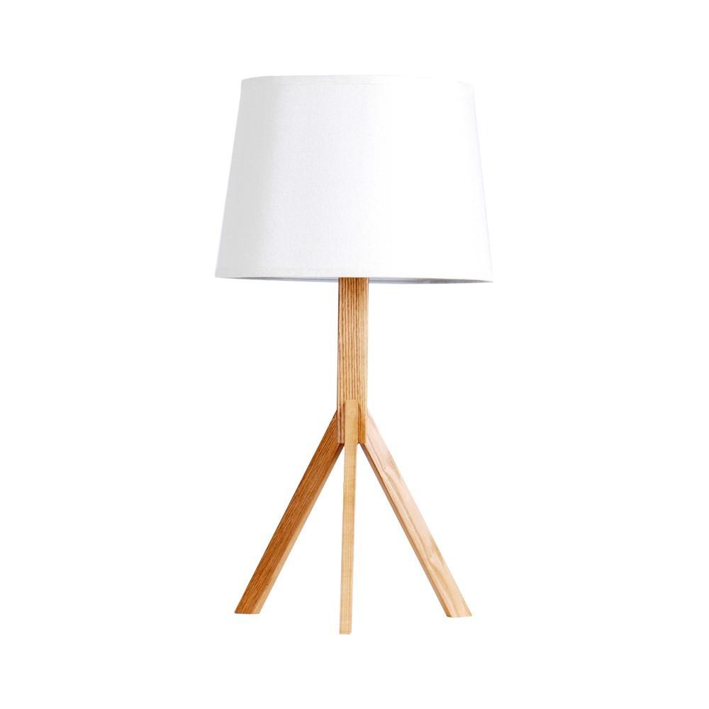 EMS Free Ship Table Lamps Wooden Handmade Tripod Wood Base Stylish White Shade Desk Light Table Study Light Lampfair LBMT-QX(China (Mainland))