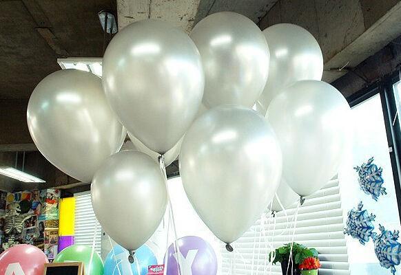 balões prata 1.2g100pcs/lot metálico Latex Hélio inflável espessamento