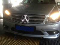 Car front grille for MERCEDES BENZ GLK class W204 GLK220 GLK300 GLK350 GLK500 LED LOGO 2006-2012, BADGE DECAL, Front EMBLEM LAMP