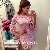 Women Casual Plus Size 2015 New Arrival Sexy Bodycon Lace Crochet Floral Mini Dresses Vestidos Club Summer Femininos Verao HQ119