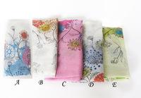 WJ46 Woman 2015 Scarf Long Arab Hijab Chrysanthemum Plants Print Superwide Voile Scarves 5 Colors Fashion Shawl Wrap180cm*90cm
