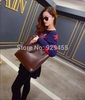 Vintage Women Composite Bags Calf Leather Women Casual Tote Fashion Women Handbag Shoulder Bag Ladies Clutch Hobo Purse