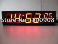 "big 4"" red led digital clock show HH:MM ss"