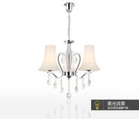 Exported modern minimalist restaurant lights hanging three European creative lighting led crystal lamp chandelier bedroom