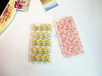 Charajuku Cartoon Emoji Fart peach jun Simpson Stitch Chick Brown Bear Aliens transparent Case Cover for iphone6 plus