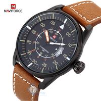 Men's Watch 50M Waterproof Quartz Watches Men Auto Date Clock Leather Strap Army Military Sports Wrist Watch Relogios Masculino