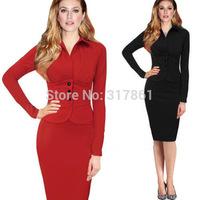2015 New plus size women Bodycon work dress