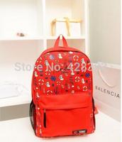 Casual canvas backpack middle school student sport bag rucksuck double-shoulder female backpack polka dot casual travel bag