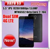 J Stock Original JiaYu S3 4G LTE Phone 5.5 Inch  1920*1080px MTK6752 Octa Core 3G RAM 16G ROM 13.0MP Dual Camera Dual SIM GPS