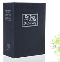 Free shipping! Deluxe Black Dictionary Secret Book Safe Money Hidden Box Security Lock Key Lock