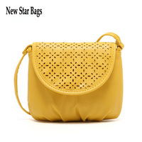 NEW 2015 autumn fashion preppy style stamp one shoulder bags fashion women Hollow leather messenger bags.S11E