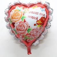 New arrival 50pcs/lot  60*55cm heart spanish  mama balloon for happy mother's day foil balloon helium mylar ballon